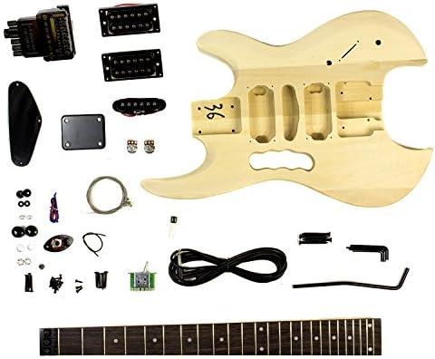 Proyecto kit de la guitarra eléctrica de bricolaje cuerpo ...