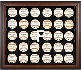 Sports Memorabilia Pittsburgh Pirates (2014-Present) Logo Brown Framed 30-Ball Display Case - Baseball Logo Display Cases