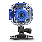 [Upgraded] DROGRACE Kids Waterproof Camera Action Video Digital Camera 1080 HD Camcorder for Boys Toys Gifts Build-in Game(Blue)