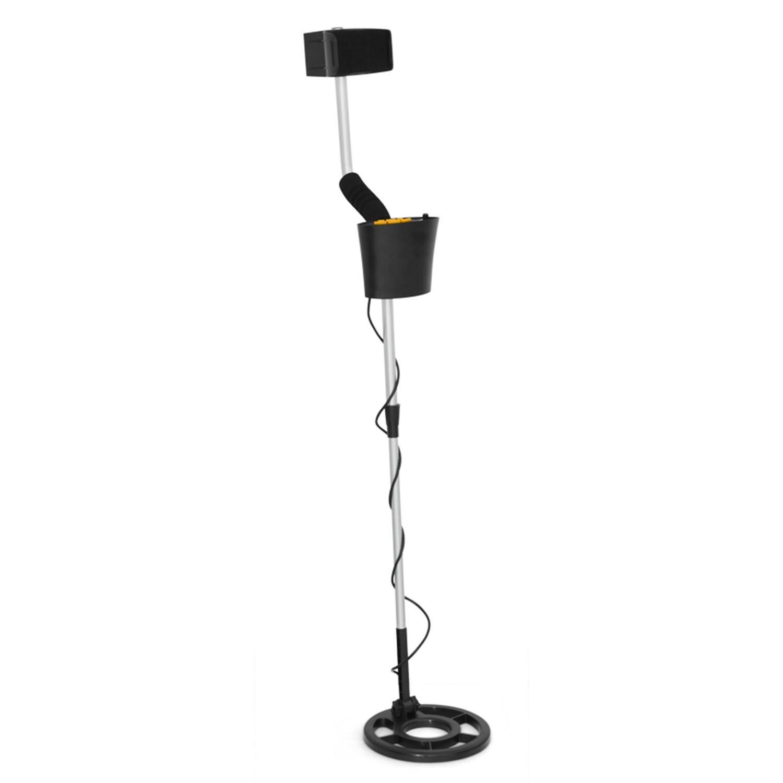 DURAMAXX MD-061 Metalldetektor Metallsuchgerät wasserdichte Suchspule 16,5 cm Durchmesser 1,5 m Suchtiefe akustisches und visuelles Fundsignal Kopfhörer-Anschluss schwarz