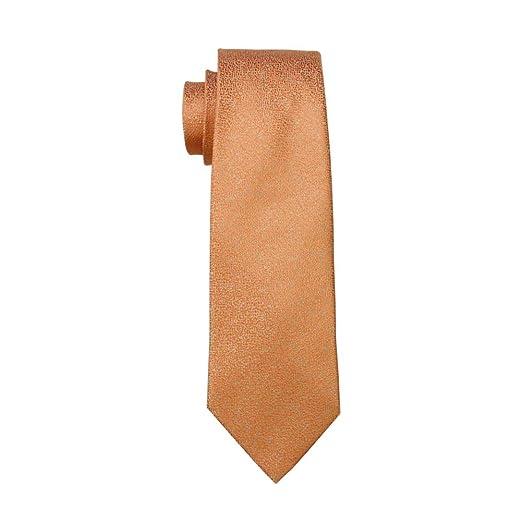 KYDCB Corbata de Color Naranja para Hombre Corbata de Novedad ...