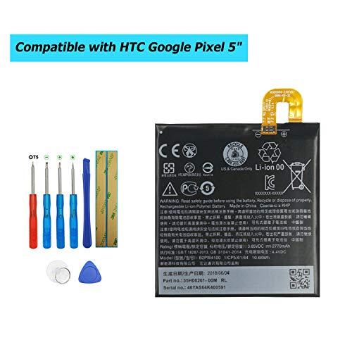 Upplus 2770mAh 3.85V B2PW4100 Li-ion Battery Compatible with HTC Google Pixel 5
