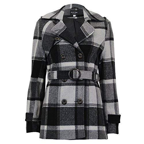 De la Crème Ladies Wool Cashmere Coat Womens Jacket Double Breasted Belt  Checked Trench New  Amazon.co.uk  Clothing 8f99eb0be