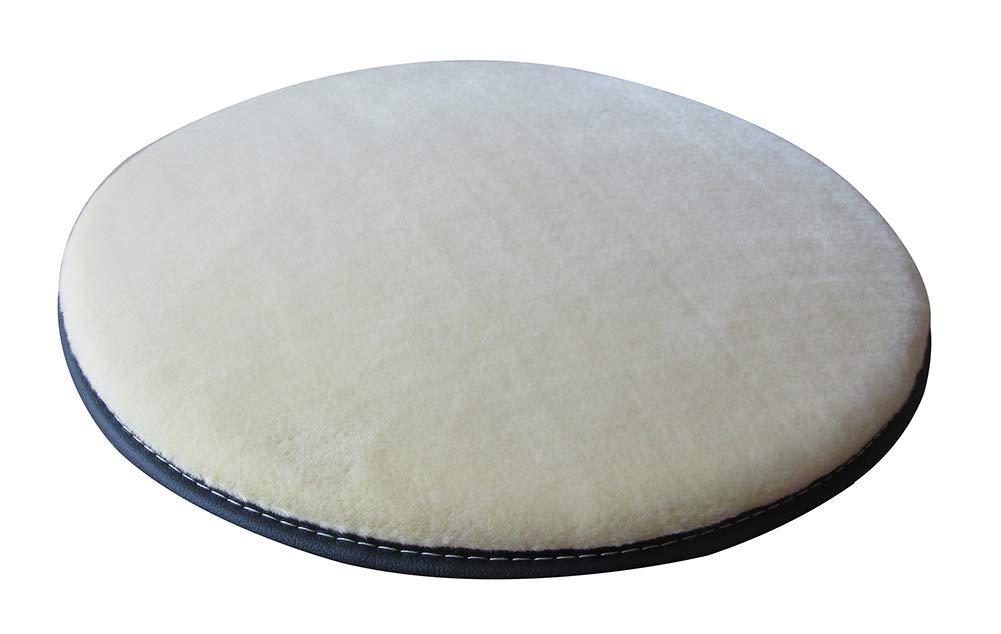 Sigmat Plush Round Bar Stool Pad Soft Chair Cushion with Buckle Beige 12