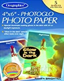 Geographics Glow In The Dark Photo Paper, 4 x 6 Inches, White, 5-Sheet Pack (30210)