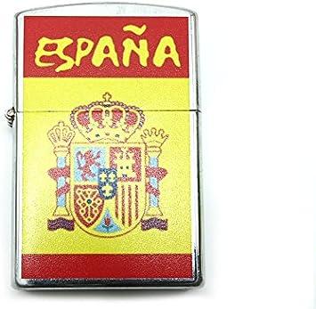 Encendedor a gasolina bandera España recuerdo: Amazon.es: Hogar