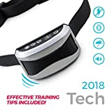 -New Updated for 2018- Anti Bark Control Collar for Dogs, No Shock Humane Anti-Barking Trainer. Effective Sonic Pitch and Strong Vibrate Technology. USB Rechargeable Durable Waterproof! L/M/S dogs