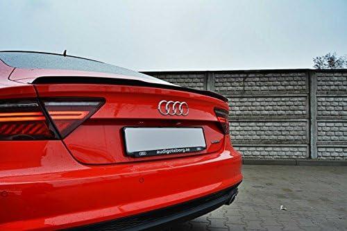 Maxton Design Spoiler Extension Cap Compatible with Audi A7 S Line Facelift//RS7