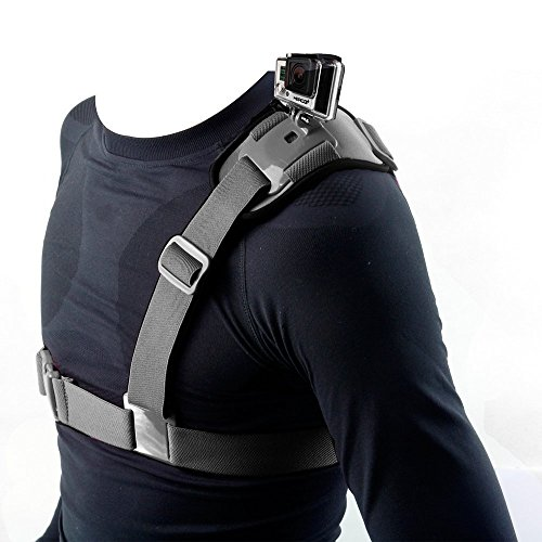 Hapurs Shoulder Strap Mount Harness Single Shoulder Video Camera Shoulder Chest Strap Supports Belt for GoPro Hero 2 3 GoPro HD GoPro HERO 3+ Hero 4 Hero 4 Session Hero 5 Session Gopro Hero 5 Hero 6
