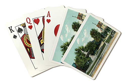 Syracuse, New York - Onondaga Circle Fountain View (Playing Card Deck - 52 Card Poker Size with Jokers)