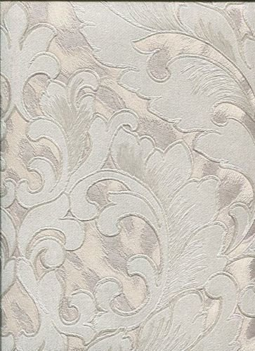 Roberto Cavalli Carta Da Parati.Rc15059 Roberto Cavalli White Grey Damask Wallpaper Amazon Co