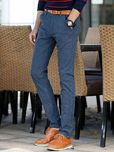 Straight Leg Cargo Pants Mid Rise Work Pants Relaxed Fit for Mens Lake Blue US Size 29 (Tag Size 31)