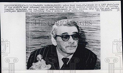 1964 Copy of 1960 Press Photo Actor Paul Muni Wearing - Sunglasses Wearing Actors