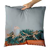 Westlake Art - Fireplace Mantle - Decorative Throw Pillow Cushion - Picture Photography Artwork Home Decor Living Room - 18x18 Inch (16C5-4AB80)