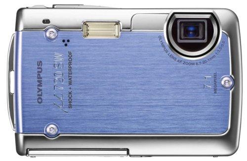 OLYMPUS デジタルカメラ μ720SW アクアブルー μ720SWBLU