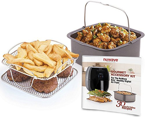 Large Product Image of Nu Wave 36223 Brio Air Fryer Accessory Kit, 3 qt, Multicolor
