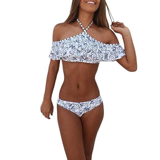 Amazon.com  Owill Sexy Womens High Waist Bandage Bikini Set Swimwear Beach  Swimsuit Monokini  Clothing e4f431cbc