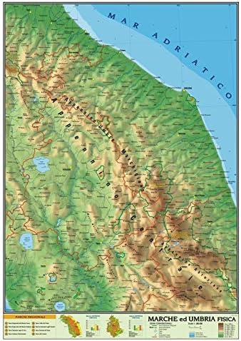 Le Marche Cartina Fisica.Carta Geografica Murale Regionale Marche Umbria 100x140 Bifacciale Fisica E Politica Amazon It Cancelleria E Prodotti Per Ufficio