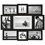 Malden Array Black 9-Opening Puzzle Collage Picture Frame