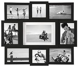 Malden International Designs Array Puzzle Collage Picture Frame, 9 Option, 2-4x4 & 6-4x6 &1-5x7, Black