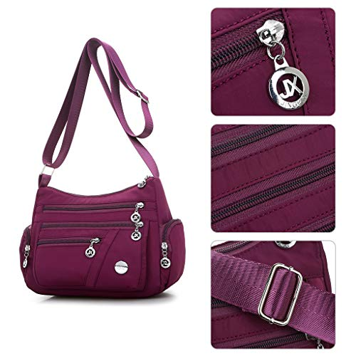 Handle Multi Ladies Wedding Satchel Handbags Women Solid Hobo Top pocket Evening Nylon Messenger Color GUBENM Party Body Shoulder Crossbody Bag Hot Tote Pink Casual Cross Handbag Bags Travel 7S60nqB