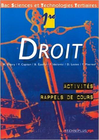Droit, 1ère STT pdf ebook