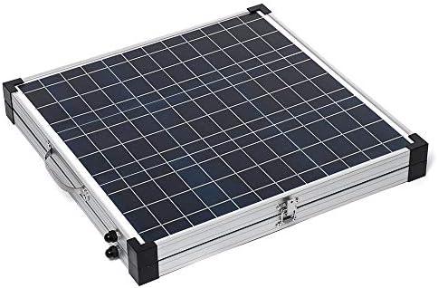 Sonnenkollektor 80W Folding Tragbare Polykristalline Solarmodule mit Controller & Alurahmen (Color : Black, Size : 4KG)