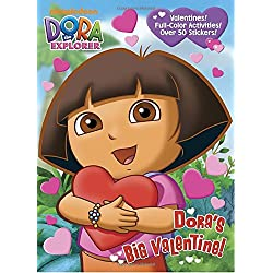 Dora the Explorer Valentine's Day coloring and activity book with over 50 stickers for kids