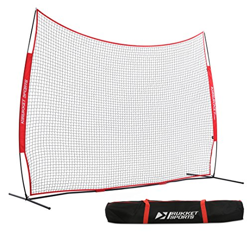 Rukket 12x9ft Barricade Backstop Net | Lacrosse, Basketball, Soccer, Field Hockey, Baseball, Softball Barrier Netting for Backyard