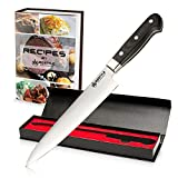 RIGSTYLE German Chef Knife 8 inch, High Carbon Stainless Steel, Sharp Blade with Ergonomic Handle for Professional Restaurants & Home Kitchens, Meat, Fish, Chicken & Vegetables Chopper, with Gift Box