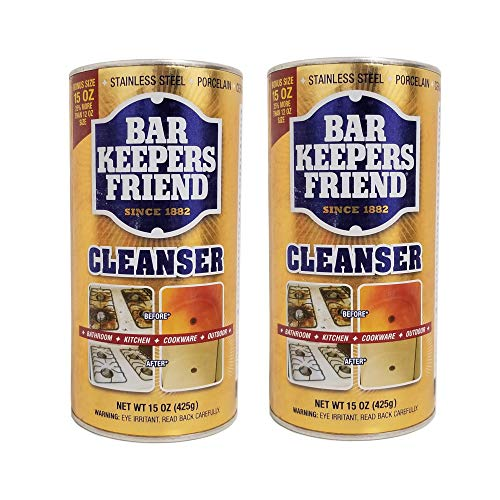 Bar Keepers Friend Powdered Cleanser & Polish 15-Ounces (2-Pack)
