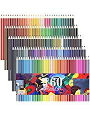 Laconile 160 Oily Art Coloured Pencils Vibrant Colors Pre-Sharpened Coloured Pencils Set for Adult Coloring Books Artist Drawing Sketching Crafting