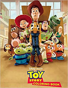 Toy Story Coloring Book: Awesome Book for Toy Story Fans: Rainbow ...