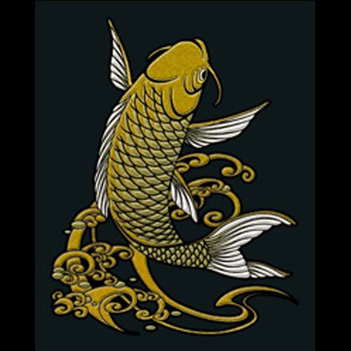 Soul Of Japan Sticker/Decal for Accessories or Decoration-Carp/Gold!!