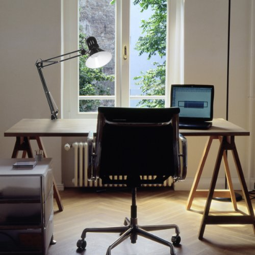 Globe Electric 56963 32'' Multi-Joint Metal Clamp Black Desk Lamp, Black by Globe Electric (Image #1)