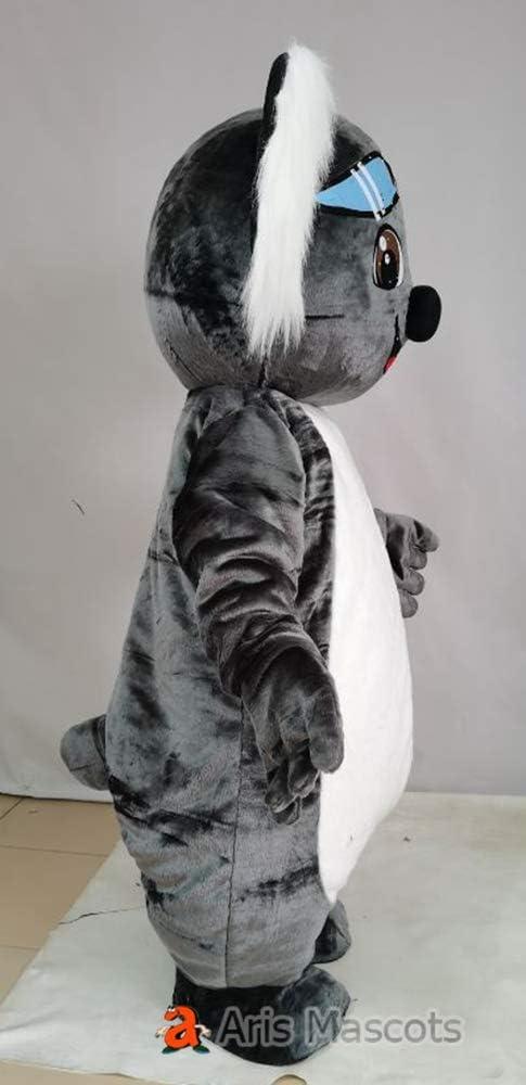 Grigio Koala Orso Deluxe Adulto Mascotte Costume Grande Testa Costume Unisex c29
