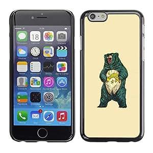 Caucho caso de Shell duro de la cubierta de accesorios de protección BY RAYDREAMMM - Apple Iphone 6 Plus 5.5 - Impresionante Grizzly Bear
