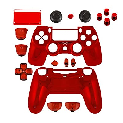 Game Bully Controller Full Housing Shell - Chrome Red - PlayStation 4 by Game Bully