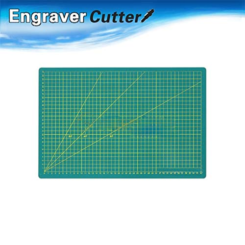 FINCOS A1 Non Slip Printed Grid Lines Durable PVC Self Healing Cutting Mat (A Level 3 Ply)