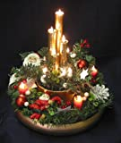Christmas Santa Lighted Centerpiece
