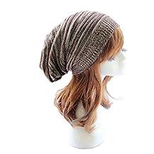 Susenstone® hat,Unisex Men Knit Baggy Beanie Beret Winter Warm Oversized Ski Cap Hat (Coffee)