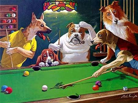 Jack el destripador - diseño de perritos jugando de billar - 30,48 ...