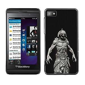 Monster Satanás Abs Hombre Demonio Negro- Metal de aluminio y de plástico duro Caja del teléfono - Negro - Blackberry Z10