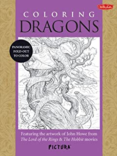 Coloring Dragons Featuring The Artwork Of John Howe From Lord Rings