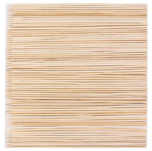 LeBeila Bamboo Skewers 12 Inch 100PCS BBQ Skewers Bamboo Grill Shish Kabob Skewers 100% Natural Bamboo Sticks For Barbecue, Marshmallow, Fondue, Cooking, Grilling & Kabob (100, 11.8'')