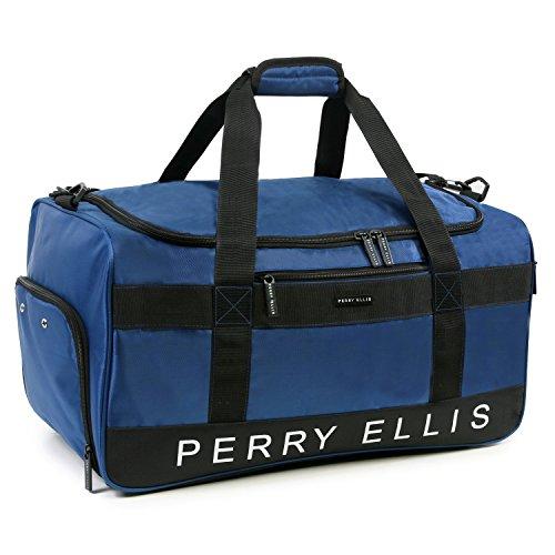 """51TAQcFwfmL - Perry Ellis 22"""" Weekender Duffel Bag, Navy"""