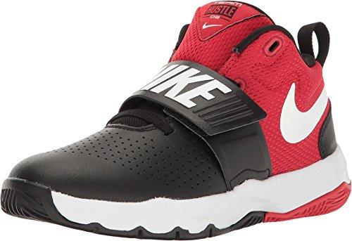 Nike Boy's Team Hustle D 8 (PS) Pre-School Basketball Shoe Black/White/University Red Size 2.5 M US