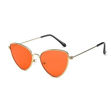 Hzjundasi MOD-Style Cat eye series sunglasses Full metal frame Retro personality style Red 7HMoq