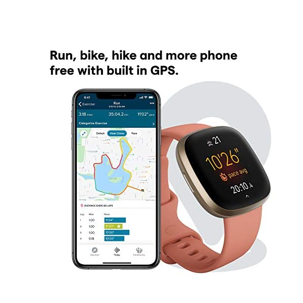 Fitbit Versa 3 Health & Fitness Smartwatch with GPS, 24/7 Heart Rate, Alexa Built-in, 6+ Days Battery, Pink/Gold, One… 3