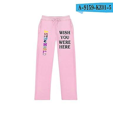 ASTROWORLD Travis Scotts ASTROWORLD Women/Men Trousers Sweatpants Jogger Pants Pink